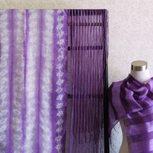 紫根染ストール